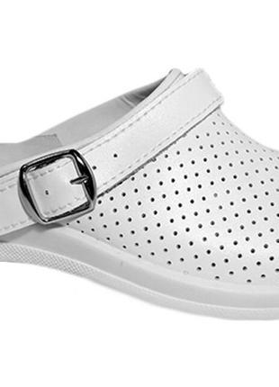 Сабо мужские кожаные рабочая обувь для врачей поваров