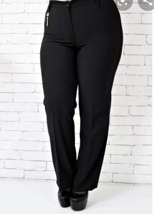 Чёрные женские классические брюки большого размера evans