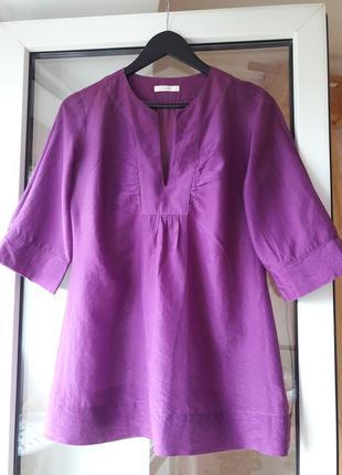 Блуза-туника цвета фуксии