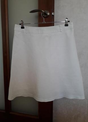 Белая юбочка из натуральной ткани