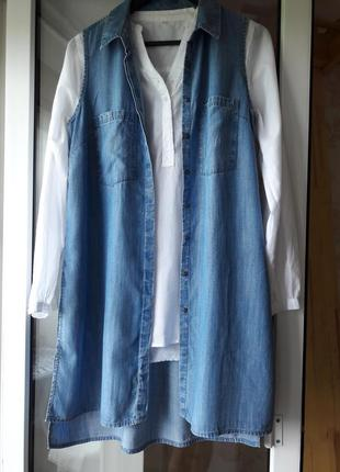 Туника из тонкого джинса