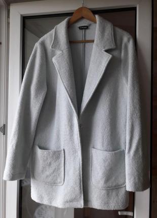 Идеальное пальто/кардиган нежно ментолового цвета оверсайз, ше...