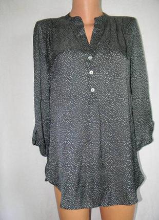 Блуза в горошек под шелк