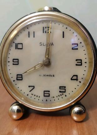 Часы будильник Slava (Слава) 11 Jewels