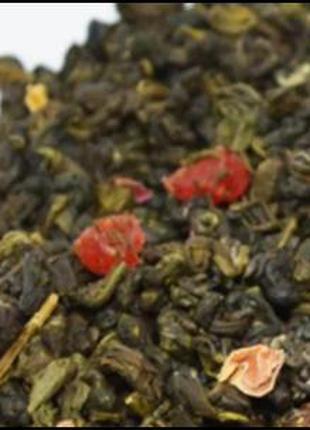 Чай зеленый «Земляничная Симфония», цена 50грн/100г.