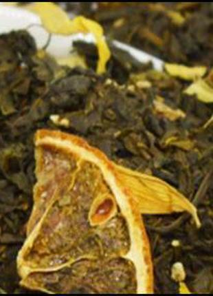 Чай зеленый с лимоном