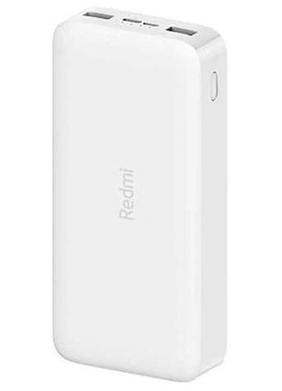 Xiaomi Redmi Power Bank 20000mAh White + ГОД ГАРАНТИИ