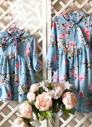 Нежные платья для мамы и дочки