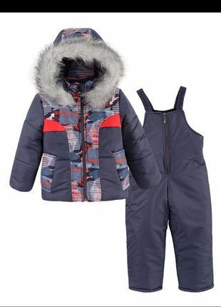 Зимняя куртка на синтепоне и овчина рост 116