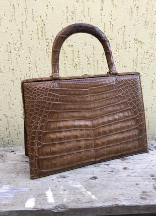 Винтаж,эксклюзив,дорогая,статусная сумка,ридикюль,кожа крокоди...
