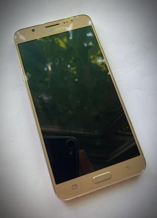 Смартфон Samsung Galaxy J7 Gold 2017 + в ПОДАРОК стильный ЧЕХОЛ