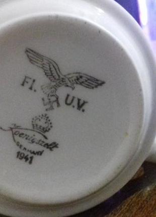 Фарфоровая чашка Германия 1941 год