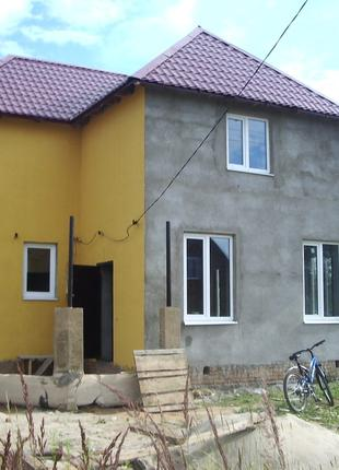 Механизированная Покраска стен Фасада Домов Дач Таунхаусов