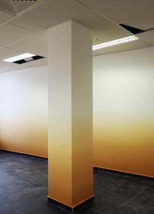 Градиентная покраска стен и потолков офисов квартир эффект Омбре