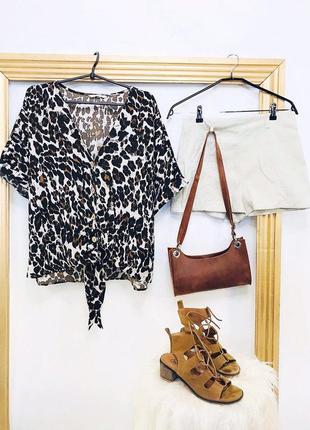 Рубашка блузка леопардовая рубашка