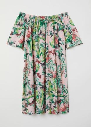 Летнее пляжное платье сарафан открытые спущенные плечи