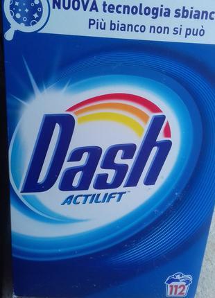 Порошок для стирки универсальный Dash Actilift Италия 112 стирок.