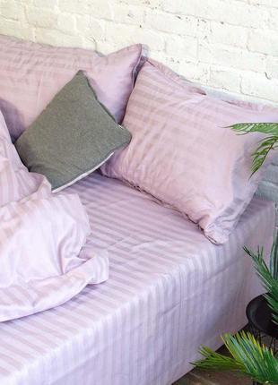Постельное белье viluta сатин страйп двуспальный комплект