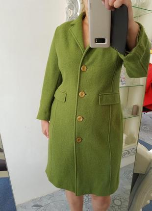 Стильное пальто,плащ,тренч borgofiori р.16 100% шерсть