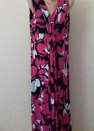Длинное платье с принтом большого размера