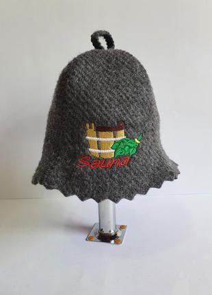 Шапка в баню Шапки для бани и сауны с вышивкой шапка в лазню