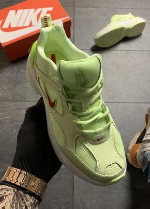 Женские кроссовки  nike m2k tekno (зеленые)