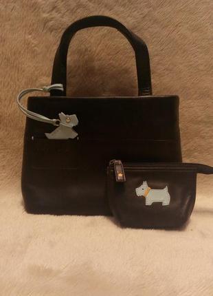 Кожаная маленькая сумка+ключник  radley