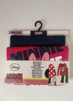 Якісна, трикотажна піжамка 104/110 см. disney / minnie mouse