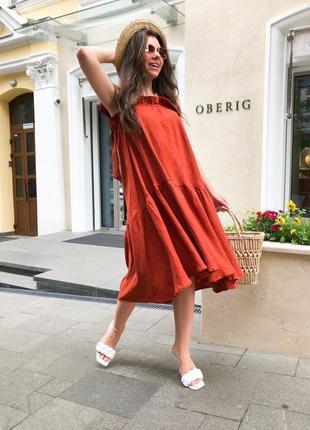 Платье миди oversize сарафан