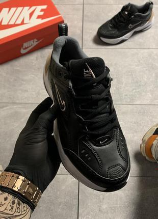 Женские кроссовки  nike m2k tekno (черно белые)