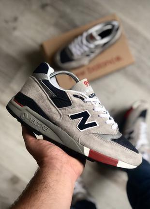 New Balance 998 GNR Gray Navy Red