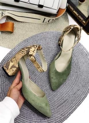 Замшевые босоножки натуральная замша кожа туфли