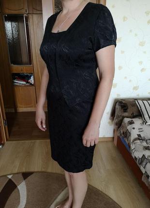 Нарядное строгое деловое платье чёрное