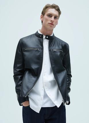 Куртка с натуральной кожи Zara