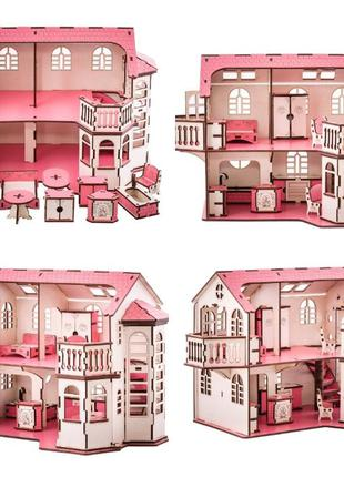 Кукольный дом 57х27х35 с мебелью,