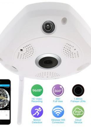 3D панорамная IP камера видеонаблюдения XPX 360 градусов WI-FI Fu