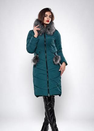 Зимнее женское молодежное пальто. Код К-127-36-19.