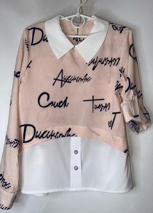 Рубашка блуза,  в школу и на прогулку