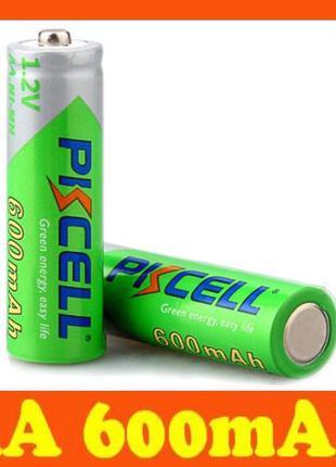 АА 600mAh аккумуляторы/ батарейки PKCELL Ni-MH