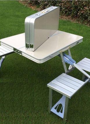 Туристический складной стол UTM трансформер для пикника на дюралю