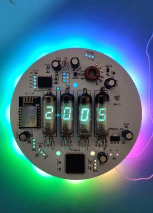 Печатная Плата Часы на VFD индикаторах ИВ-6, ИВ-2, ИВ-3, ИВ-8