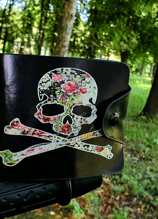 Гаманець кошелек череп з квітами