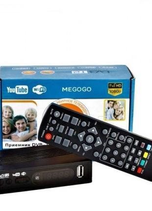 Цифровой Тюнер Т2 ТВ ресивер DVB-T2 MEGOGO Wi-Fi