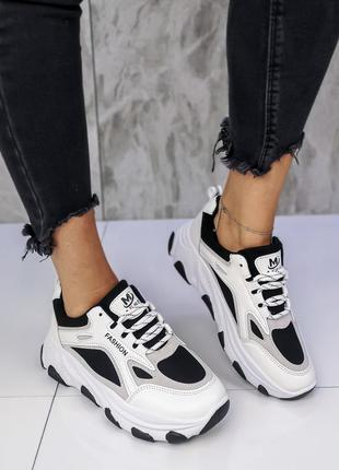 Черно-белые кроссовки новинка