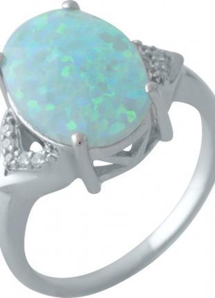 Серебряное кольцо SilverBreeze с опалом (2009245) 17 размер