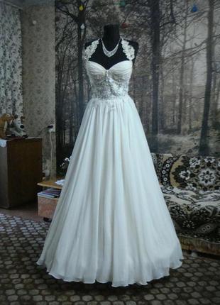Платье в греческом стиле -крем.