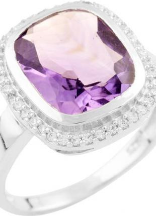 Серебряное кольцо SilverBreeze с натуральным аметистом (1537558)