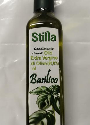 Оливкова олія першого холодного віджиму з базиліком 0,250л Італія