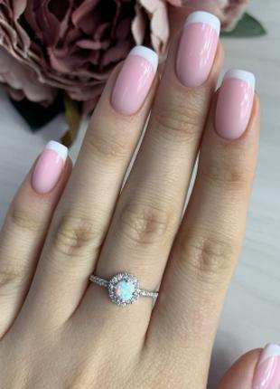 Серебряное кольцо SilverBreeze с опалом (2040798) 17 размер
