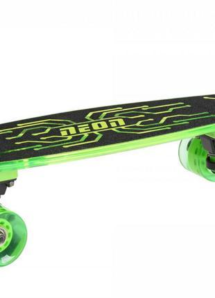 Скейтборд Neon Hype Зеленый